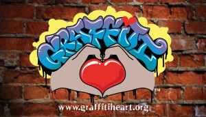 Graffiti Heart Biz Cards